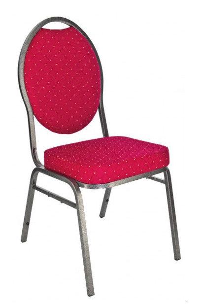 banketová židle Selectstack deluxe round červená