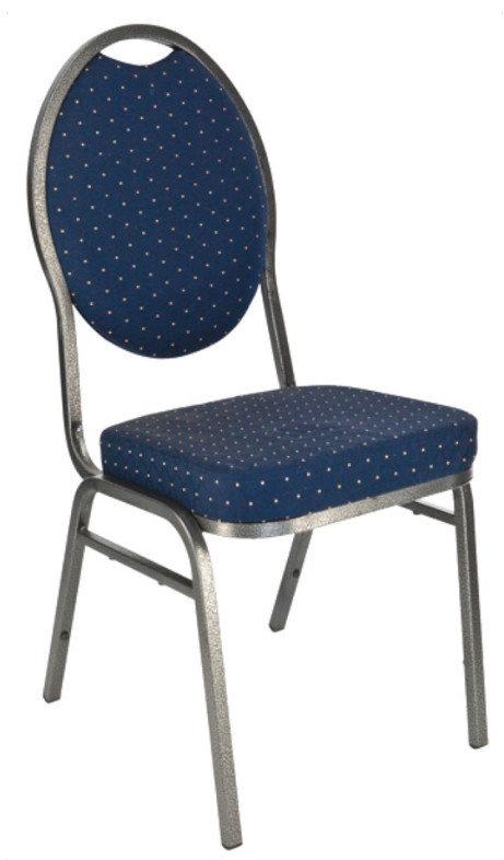 banketová židle Selectstack deluxe round modrá