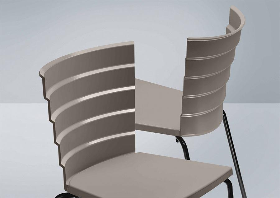 detail opěradla židle BIKINI