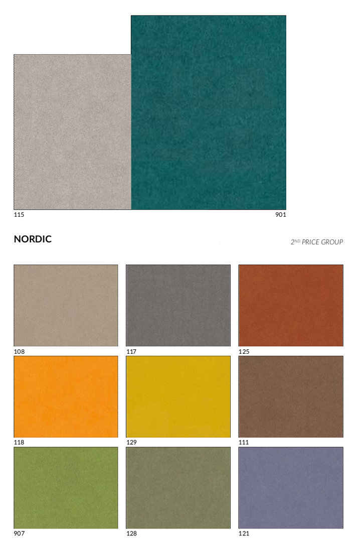 židle Gent - látky Nordic cenové skupiny 2