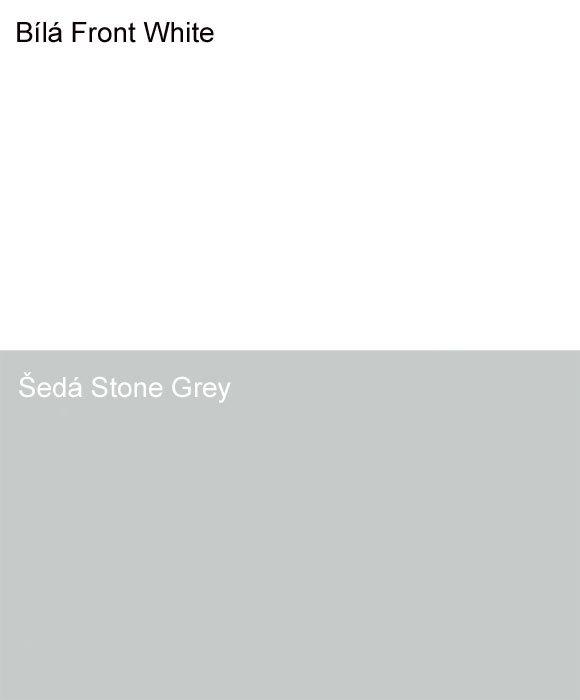 stolové desky v bílé a šedé barvě
