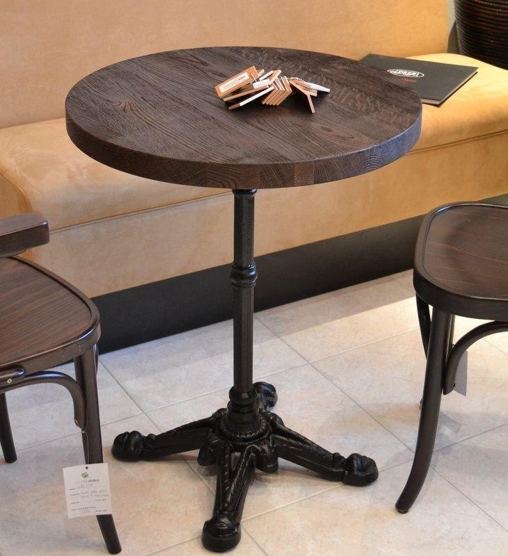 stůl Bistro 4R deska Ø60 masiv dub kartáčovaný
