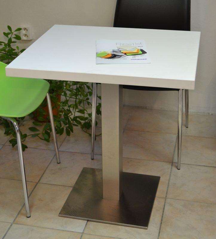Kavárenské a restaurační stoly - stoly Boxy 001QL INOX