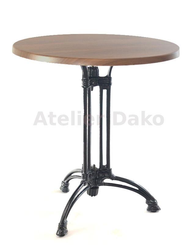 Kavárenské stoly - stůl Dominique 3RSM s deskou průměr 70cm
