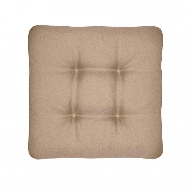 Sedáky na zahradní nábytek - univerzální sedák prošívaný světle hnědý