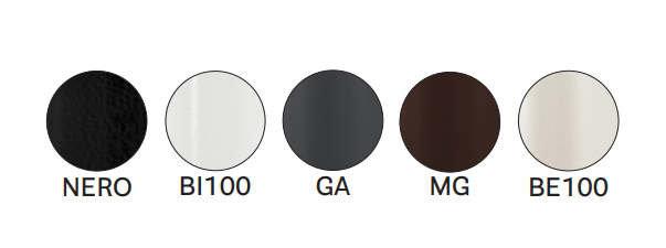 barevná provedení podnože stolů ARKI 4 BAR