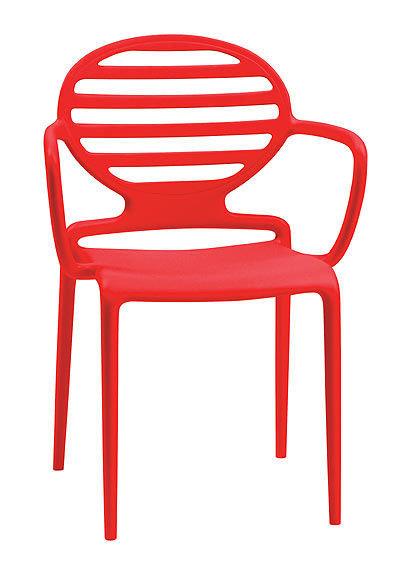 židle Cokka s područkou červená