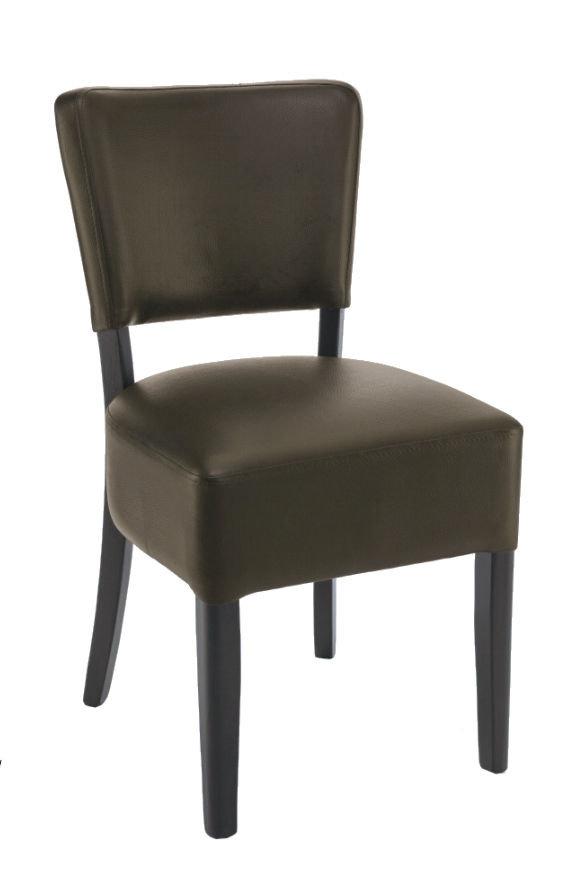 židle Floriane v tmavě hnědé barvě Chocolate 63