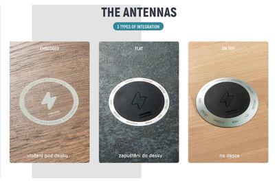 Bezdrátové nabíjecí stoly - 3 možnosti vestavby nabíječky do stolové desky