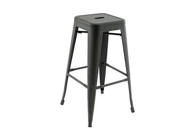 Barová židle Omer Gunmetal
