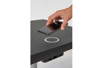 Bezdrátové nabíjecí stoly - bezdrátová nabíječka FLAT + 2x USB