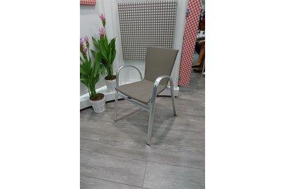 Hliníkové židle Strasbourg nově ve výpletu Taupe