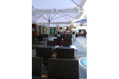 Julius Meinl Coffee - Křesla Cenon Silver Castana v kavárně Julius Meinl