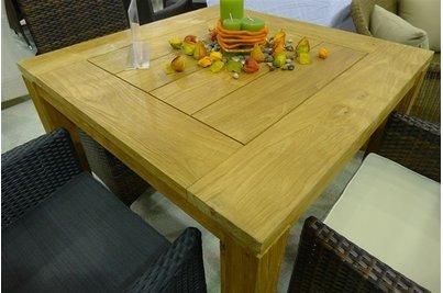 Masivní teakový stůl 80x80cm
