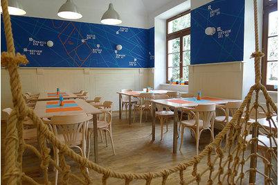 Café & Restaurant Avion air - nábytek v barvě běleného buku b.60 Whitewash