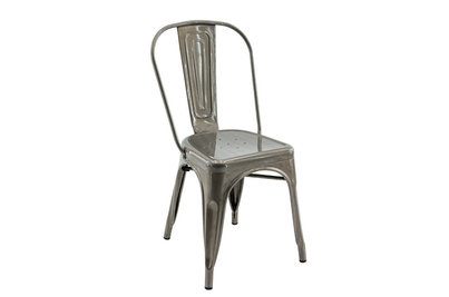 Plechová židle Gustave Naturel