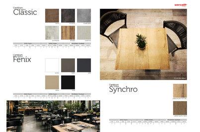 přehled dekorů a rozměrů laminovaných stolových desek pro bezdrátové nabíjení IPAN
