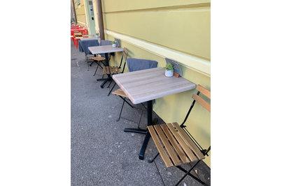 Happy Bean Bistro - sklopné stoly Verona s deskou Messina Oak