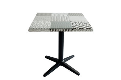 stůl s deskou CIMENT BLANC 70x70cm