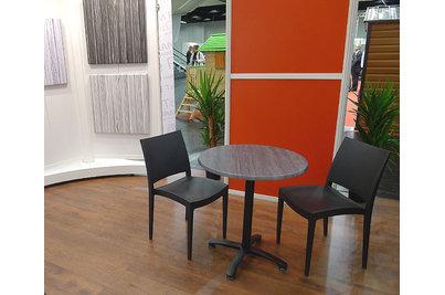 Židle Kromy se stolkem o průměru 70cm s deskou Palissade Gris