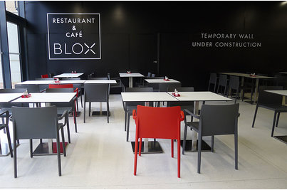 BLOX restaurace - židle Volt v restauraci BLOX