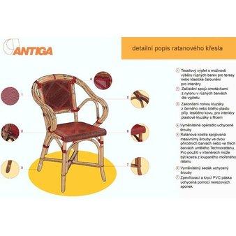 Ratanový nábytek - detailní popis ratanového křesla