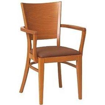 Dřevěné židle - dřevěná židle 917 s područkami