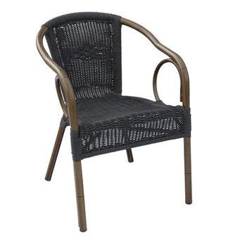 Zahradní židle - křeslo Costa Round Black