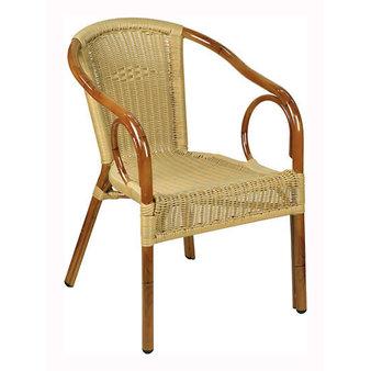 Zahradní židle - křeslo Costa Round Natural