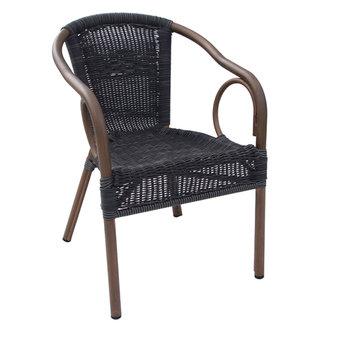 Zahradní židle - křeslo Costa Round woodlook coffee