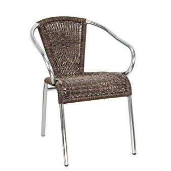 Zahradní židle - křeslo Kannet Coffee mix