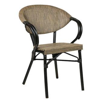 Zahradní židle - křeslo Marino Black Mixed