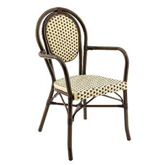 Zahradní židle - křeslo Paris F Bamboo Chocolat