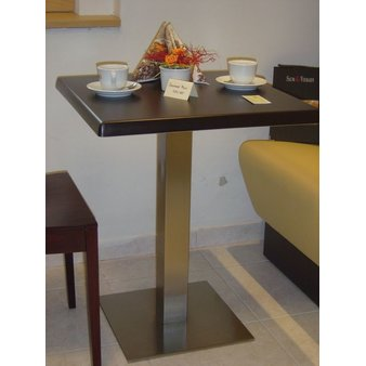 Kavárenské a restaurační stoly - stoly Boxy 001QSM INOX