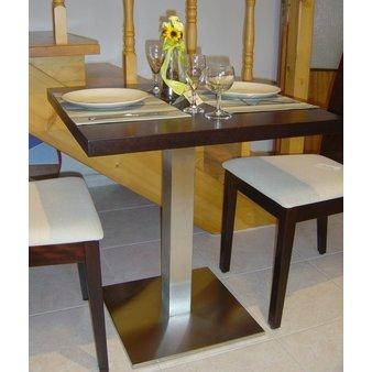 Kavárenské a restaurační stoly - stoly Boxy 002QA INOX