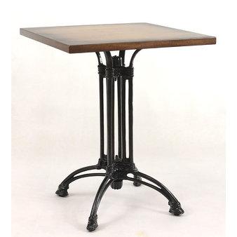 Kavárenské a restaurační stoly - stůl Dominique 4QD s deskou 60x60cm Antik