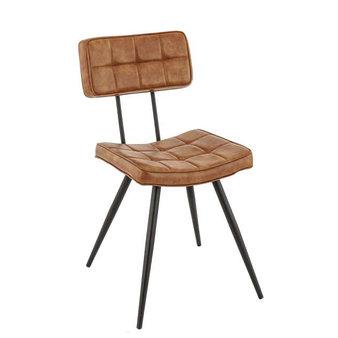 Židle - židle Maurice v koňakové kožence