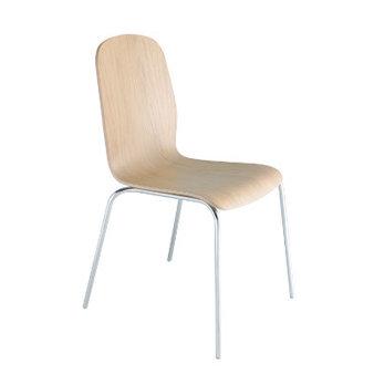 Kovové židle - židle MILU 900 chrom / dub přírodní