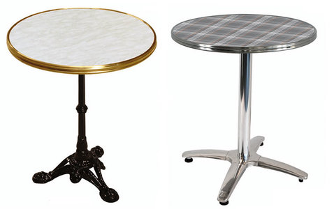 kavárenské stolky s deskami Bistro