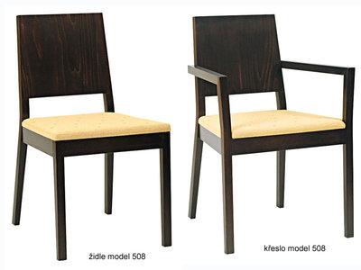 Židle a křeslo Brest model 508