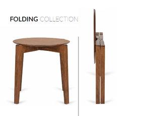 Skládací nábytek z bukového dřeva