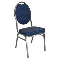 banketová židle Selectstack deluxe round modrá (nedostupné)