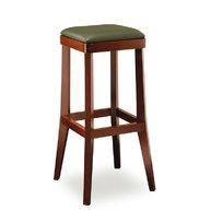 barová židle 048 s čalouněným sedákem