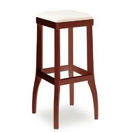 barová židle 050 s čalouněným sedákem