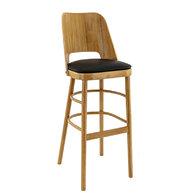 barová židle BUDAPEST DUB natural/Black 7006
