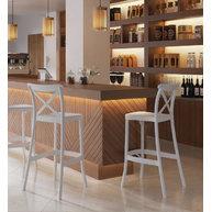 barová židle Capri v barvě Ivory White
