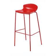 barová židle Easy v červené barvě