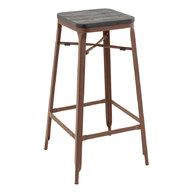Barová židle Edgard Copper / Black wood