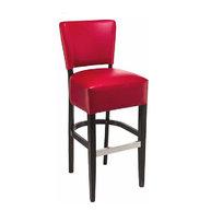 barová židle Floriane v barvě bordó
