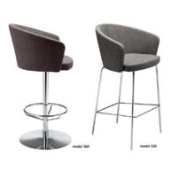 barová židle Kicca 320 a 366 (4 nohy)